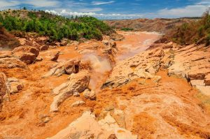 Betsiboka River Madagascar Rapids Red water