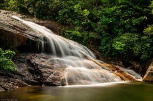 Milky Waterfall Rapids River smoky mountains