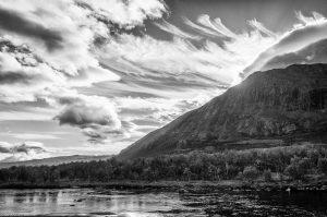 Kungsleden Lapland Sweden Clouds Lake Mountain