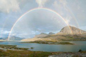King's Trail Kungsleden Lapland Sweden Full Rainbow