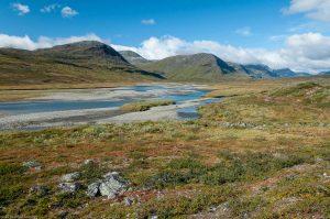 Kungsleden Lapland Sweden Mountain River