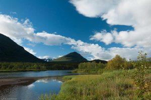 King's Trail Kungsleden Lapland Sweden Lake