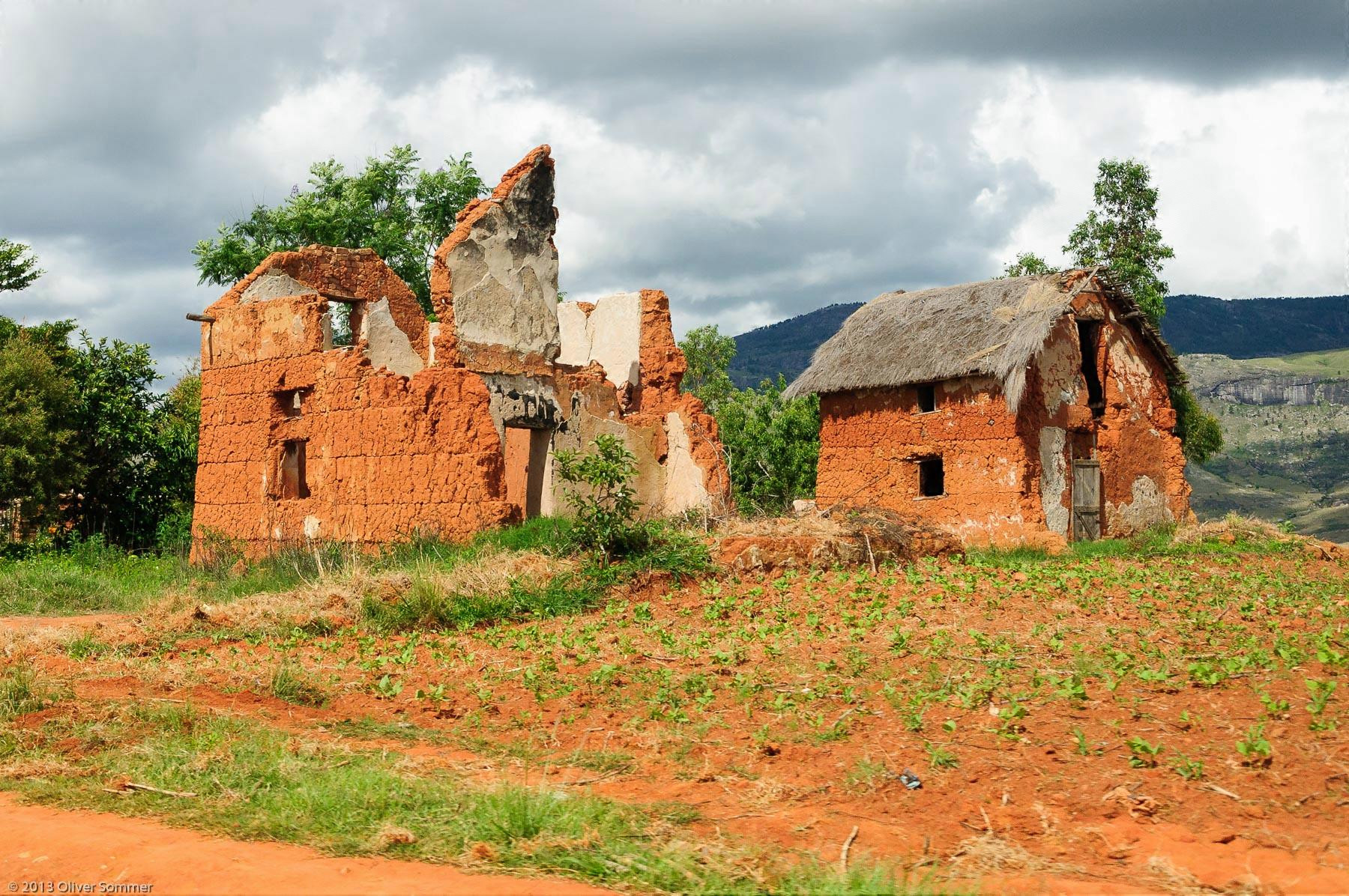 Brick House Culture Madagascar Traditional