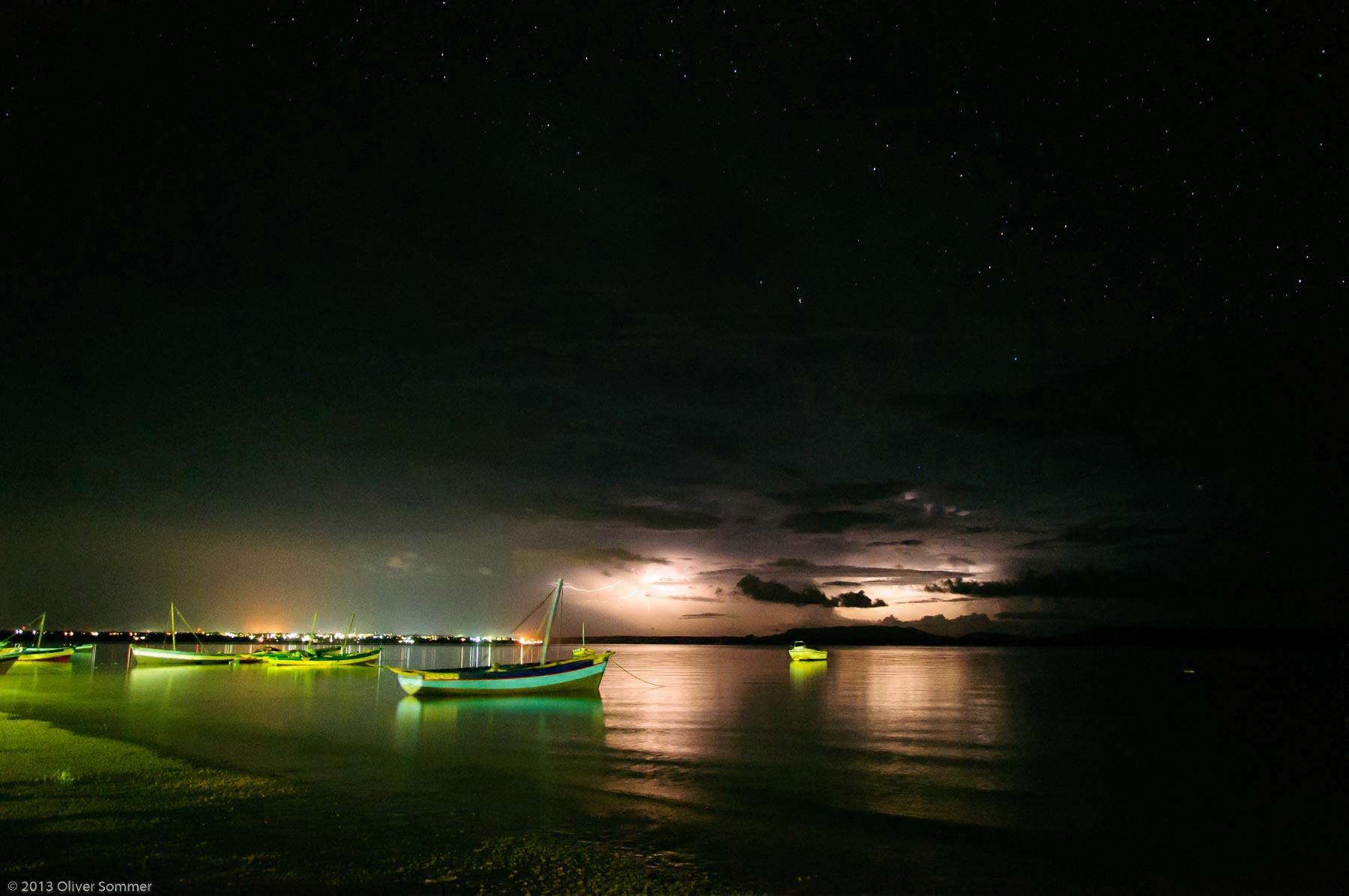 Lightning Madagascar Night Ocean Storm Thunderstorm