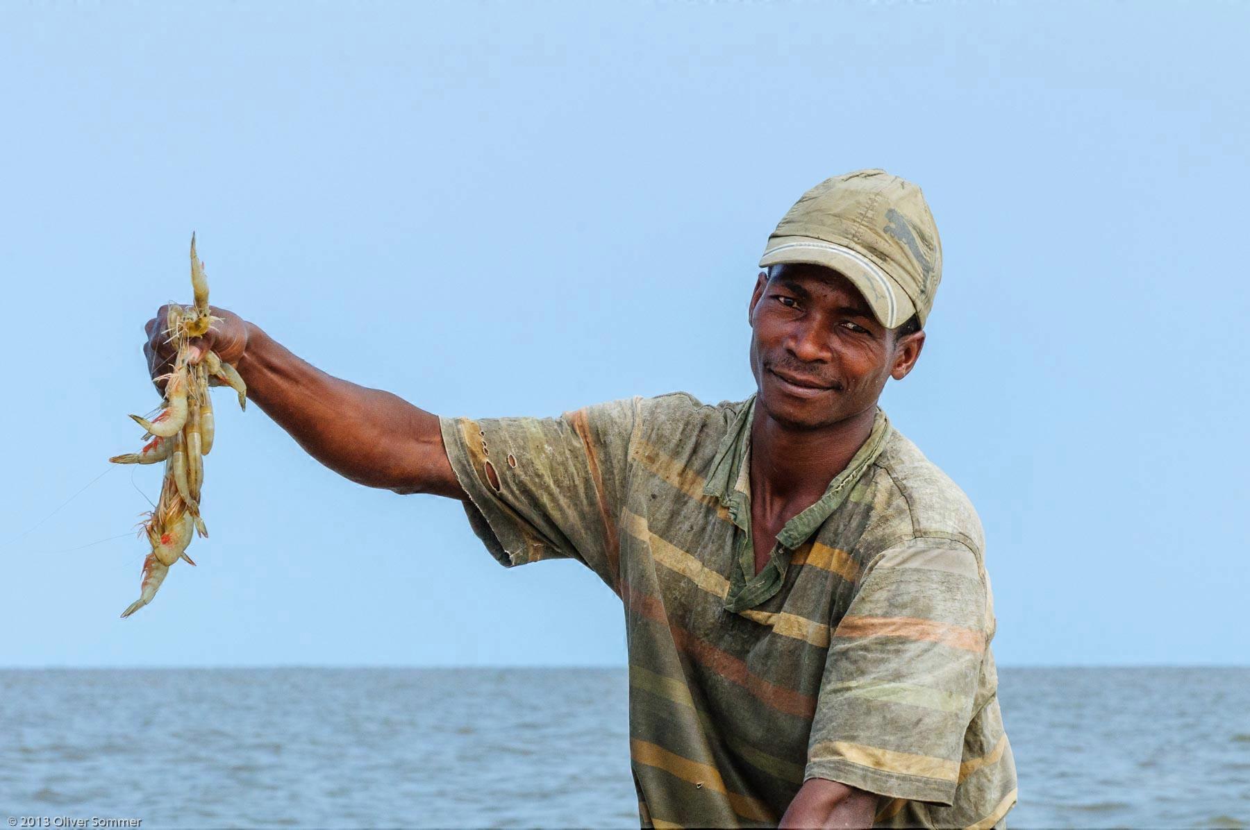 Fisherman Smiling Lifestyle Prawns Seafood Shrimp
