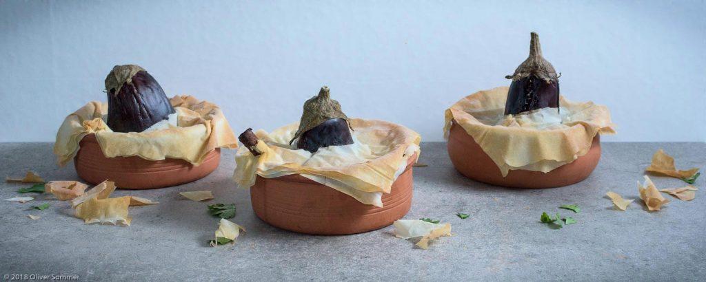Baked, Crust, Eggplant, Filo Yufka