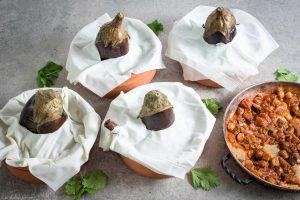 Cinnamon eggplant, Filo Lebanese, Lemon, Maghmour