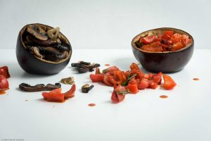 Bell Pepper, Cilantro Eggplant, Garlic Mushroom,