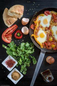 Cast-iron, Cilantro, Saffron, Tomato, Za'atar