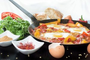 Bell Pepper, Cilantro, Egg, bread, Tomato